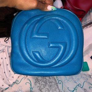 Gucci pebbled top handle bag